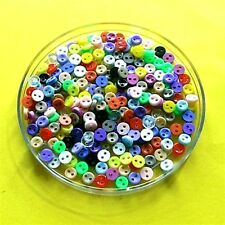 200 Wholesale Mini Doll Micro Dolly Clothes Tiny Multi Colors Sew Buttons 5mm 8L