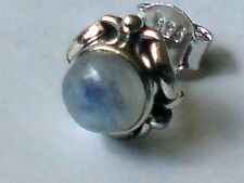SINGLE STERLING SILVER ROUND CABOCHON MOONSTONE 10mm. STUD EARRING £5.50  NWT