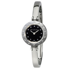 Bvlgari B.zero1 Black Dial Stainless Steel Bangle Bracelet Ladies Watch 102319
