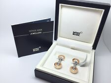 Brand New Montblanc Silver Stainless Steel & 18k 750 Gold Fold-able Cufflinks