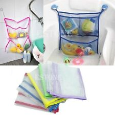 Baby Kids Bathroom Bath Toy Tidy Storage Net Bag Organiser with Suction Cup