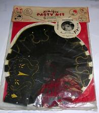 VTG 1956 MIMIQUE BIRTHDAY HALLOWEEN PARTY KIT W 6 CARDBOARD COWBOY HATS, BOOTS