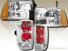 1995-1997 Chevy Blazer S10 LT LS Headlights Chrome & Tail Lights