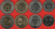 Libya set of 4 coins: 50 dirhams - 1/2 dinar 2014 UNC