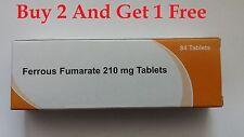 Iron Tablet- Ferrous Fumarate 210mg - 84Tablets -Fersamal ,Ferrous Sulphate Alt.
