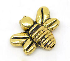 15 de oro de tono honey/bumble Bee charms/spacer Perlas ~ 14x12mm ~ Joyas ~ atascos (10)