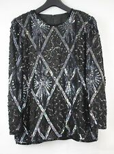Urban Outfitters Lovely 80s Vintage Sequinned  Party Top