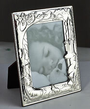 SILVER BABY / CHILDS / CHRISTENING / BIRTH PHOTO FAIRY TALE FRAME BNIB By Carrs