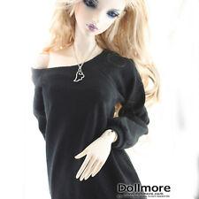 """Dollmore 26"""" BJD girl clothes Model Woman Size - Raglan Boxy T(Black)"""