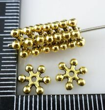40/160/1000pcs Gold/silver Plated Small Snowflake Spacer Beads Charms(Lead-free)