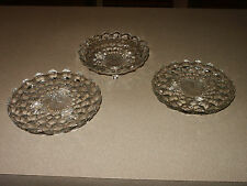 3 Vintage American Fostoria Footed Platters Plates Serving Dishes