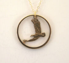 Sacagawea Dollar Eagle With Rim, Cut-Out Coin Jewelry, Necklace/Pendant
