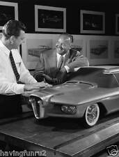 George Walker 1960 X Edsel Concept Clay model  8 x 10 Photograph