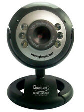 Quantum 25 MP USB Webcam Mic Chat Video 6 Lights, Night Vision WebCam