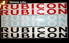 "Pair ""RUBICON"" Jeep hood decals stickers YJ JK TJ"
