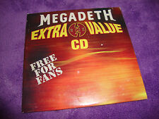 MEGADETH EXTRA VALUE CD sampler dope/puya/doubledrive/chevelle free US shipping