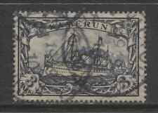 1900 German colonies  CAMEROUN 3 Mark Yacht issue  used, -VICTORIA-, € 140