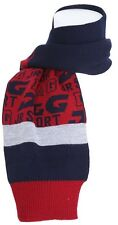 PRICED 2 GO! D&G DOLCE GABBANA Wool Blend LJ3049 Small Logo Scarf Navy Blue Grey
