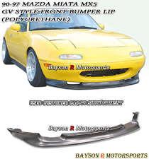 GV Style Front Lip (Urethane) Fits 90-97 Mazda Miata
