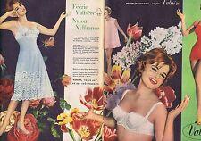 PUBLICITE ADVERTISING 114 1959 VALISERE soutien gorge lingerie (2 pages)