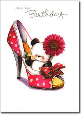Panda in Large High Heel Shoe Birthday Card - Greeting Card by Freedom Greetings