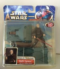 DARTH TYRANUS FORCE FLIPPING ATTACK STAR WARS ATTACK OF THE CLONES