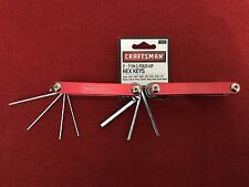 (NEW, SEALED) Craftsman (2) 7-in-1 Piece Fold-Up Hex Key Set (Standard & Metric)