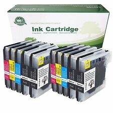 10 PK LC61 Ink Cartridges for Brother MFC-490CW MFC-495CW MFC-J615W MFC-J630W