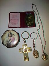 Roman Catholic Lot Necklace St. Therese Little Flower Medal Keychain Rosary Case