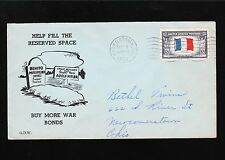 WWII Patriotic Mussolini Grave Hitler Next Hagerstown IN 1944 Overrun France 9v