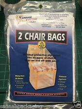 SET OF 2 TWO CHAIR COVERS BAGS FURNITURE PROTECTION  NEW SEALED