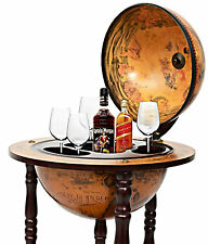 Wine Rack Cabinet 36'' 16th Century Italian Globe Liquor Storage Bar Furniture