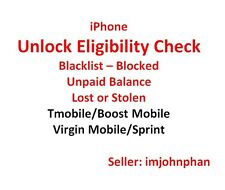 T-Mobile Sprint iPhone Clean/Blacklist/Activation Lock Unlock Check