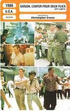 FICHE CINEMA : SAIGON L'ENFER POUR DEUX FLICS - Dafoe,Hines 1988 Off Limits