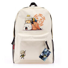 《ONE PIECE》 Trafalgar Law backpack Japan anime schoolbag canvas travel bag