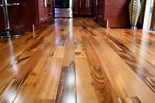 "4"" Clear Prefinished Solid Brazilian Tigerwood Koa Wood Hardwood Flooring Sample"
