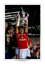 BRYAN ROBSON MANCHESTER UNITED 1985 FA CUP WINNERS A4 PRINT PHOTO MAN UTD
