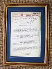 Raro Antiguo Enmarcado Réplica Titanic carta volver hacer caso omiso de vidas 3 clase pasengers