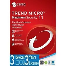 Trend Micro Maximum Security 11 (2017) | 3 Years Licence | 3 Devices