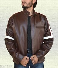 Tom Cruise War Of The World Handmade Genuine Sheep Leather Jacket S-5XL Brown
