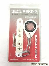 Secure Ring Door Lock Chain Security UPVC Composite Wood White Universal Fitting