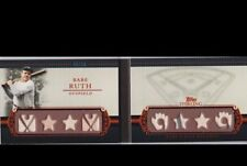 2010 Topps Sterling Babe Ruth Game Used 8 x Bat 2 Color Jersey w Pinstripes 8/10