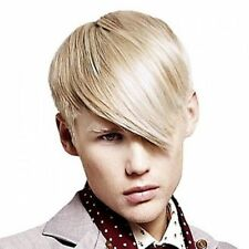 Fashion Short Straight Toupee Side Bang Sparkling Light Blonde Wig Hair For Men