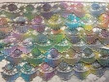 """hand dyed Venise lace rayon 2.00 """" wide sold by yard victorian sewing clothing"""