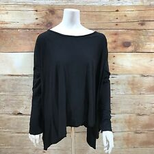 ALL SAINTS Black Top Size UK 10 Oversized Batwing Loose Cape Jersey 4793