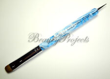 Nail Art Kolinsky French Brush #16 with Dotting Pen High Quality-Sky Blue Marble
