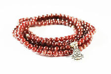 216 4mm Wine Red  Garnet Beads Prayer Bracelet 90cm
