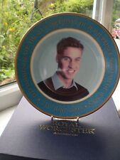 Royal Worcester Prince William 21st Birthday Plate Boxed