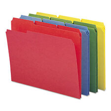 """Smead File Folders, 1/3 Cut, Reinforced Top Tabs, Letter, Assorted, 12/pack"""