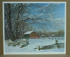 Snow-Bound CW Vittitow Mail Pouch Tobacco Barn Winter Wagon Kentucky Artist